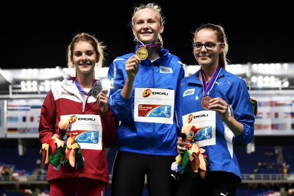 Girls' high jump podium at the IAAF World Youth Championships, Cali 2015 (Getty Images)