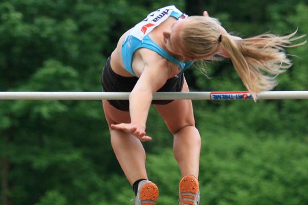 Austrian heptathlete Sarah Lagger in the high jump (Hannes Riedenbauer/Austrian Federation)
