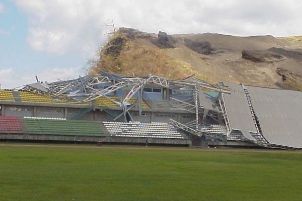 Grenada's stadium ruined by Hurricane Ivan (Michael Bascombe)