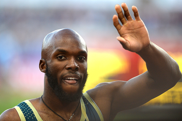 LaShawn Merritt of the USA celebrates his victory (AFP / Getty Images)