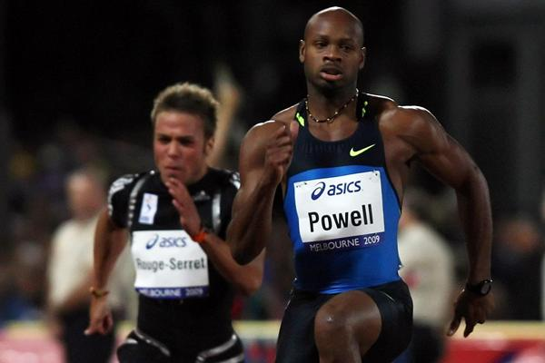 Asafa Powell in Melbourne (Getty Images)