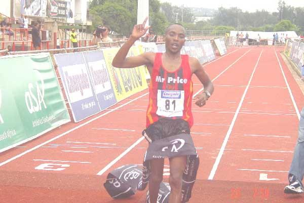 Johannes Kekana wins the South African Marathon Champs (Mark Ouma)