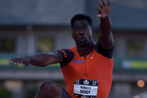Marquis Dendy at the 2015 US Championships (Kirby Lee)