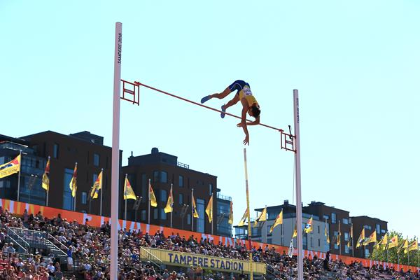 Armand Duplantis in the pole vault at the IAAF World U20 Championships Tampere 2018 (Getty Images)
