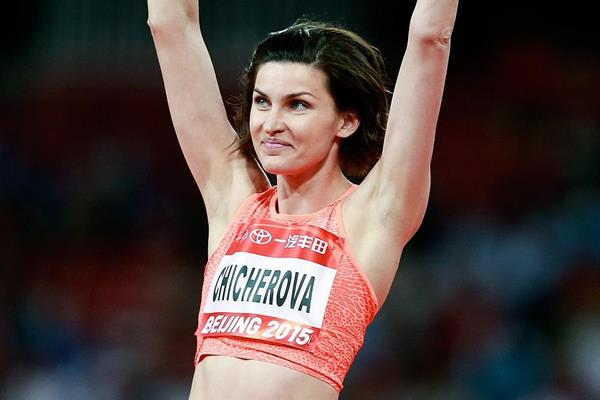 Anna Chicherova at the 2015 IAAF World Challenge meeting in Beijing (Getty Images)