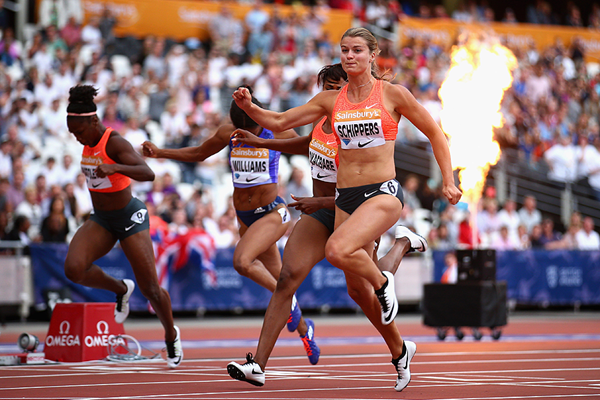 Dafne Schippers in action at the IAAF Diamond League meeting in London (Getty Images)