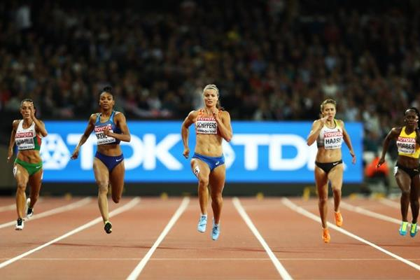 Dafne Schippers winning her 200m semi-final at the IAAF World Championships London 2017 (Getty Images)