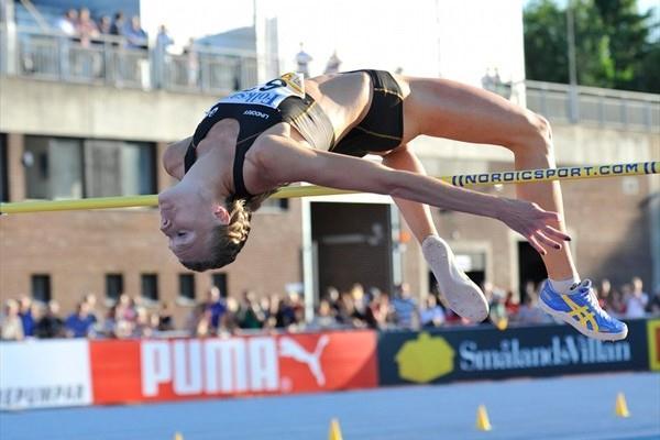 Emma Green improves her PB 1.98m in Sollentuna (Hasse Sjogren / DECA Text&Bild)