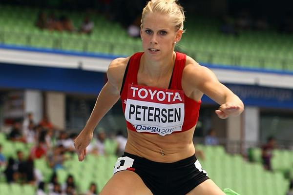 Sara Petersen in the 400m hurdles at the IAAF World Championships (Getty Images)