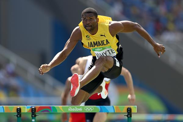 Annsert Whyte in the 400m hurdles at the Rio 2016 Olympic Games (Getty Images)