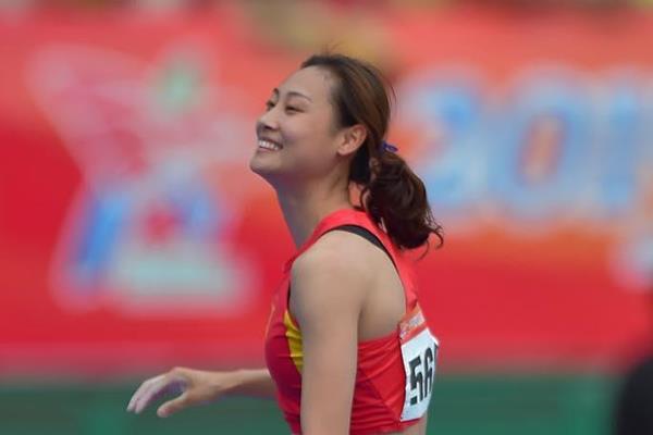 Li Ling at the 2015 Asian Championships (Asian Championships LOC / AAA)