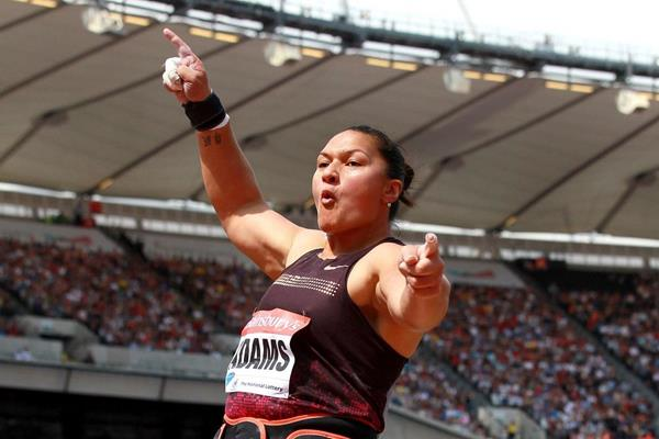 Valerie Adams at the 2013 IAAF Diamond League meeting in London (Victah Sailer)
