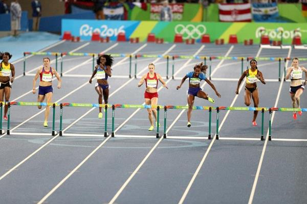 Dalilah Muhammad in the 400m hurdles at the Rio 2016 Olympic Games (Getty Images)