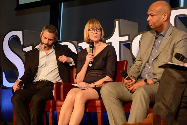 IAAF Council Member Sylvia Barlag speaks at the SportsPro Live conference (Organisers)