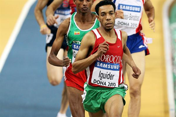 Morocco's Abdalaati Iguider in action during the 1500m heats in Doha (Getty Images)