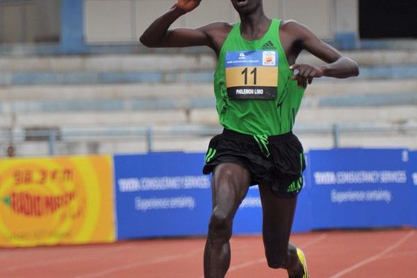 Philemon Limo takes a commanding win in the Bangalore 10Km (Sean Wallace Jones)