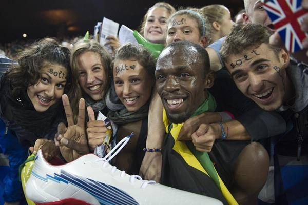 Usain Bolt meets his fans at the 2012 Diamond League in Zurich (Weltklasse Zürich)