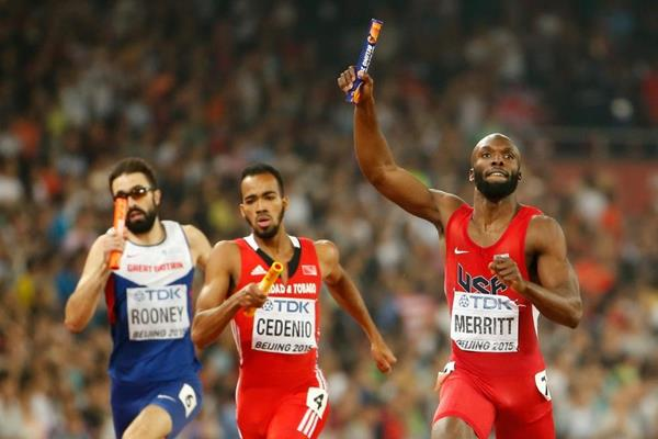 USA wins the 4x400m from Trinidad and Tobago and Great Britain at the IAAF World Championships, Beijing 2015 (Getty Images)