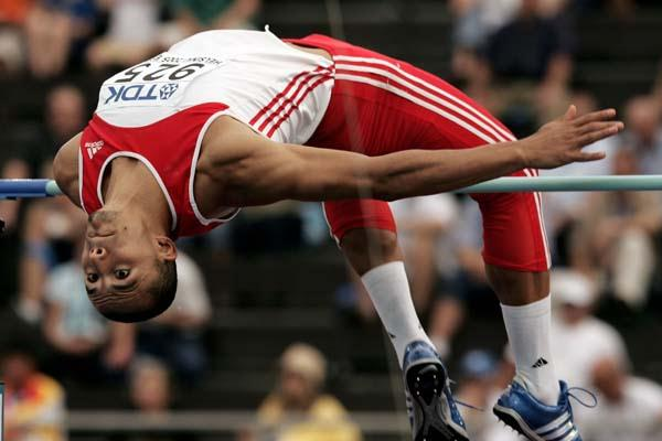 Hamdi Dhouibi of Tunisia in the Decathlon's High Jump (Getty Images)