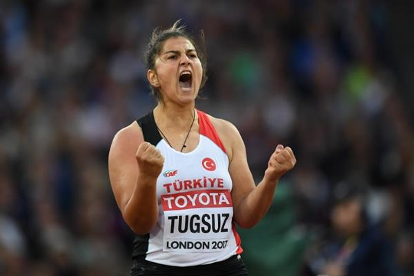 Eda Tugsuz at the IAAF World Championships London 2017 (Getty Images)