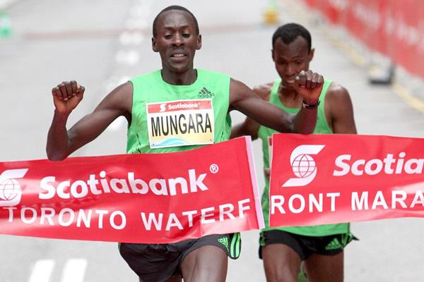 Kenneth Mungara takes his fourth victory in Toronto (Andrew McClanahan)