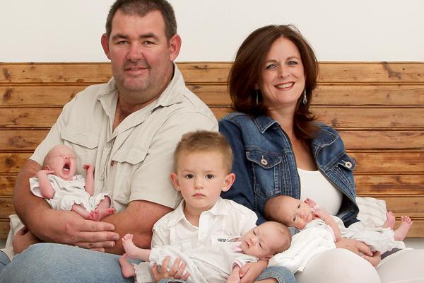 South African javelin thrower Marius Corbett with his family (Marius Corbett)