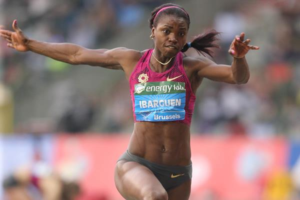 Caterine Ibarguen at the 2014 IAAF Diamond League final in Brussels (Glady von der Laage)