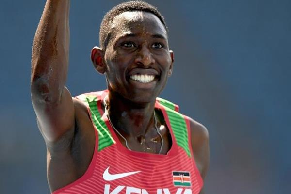 Conseslus Kipruto wins the 3000m steeplechase at the Rio 2016 Olympic Games (Getty Images)