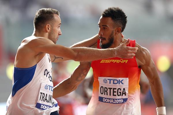 Milan Trajkovic and training partner Orlando Ortega (Getty Images)
