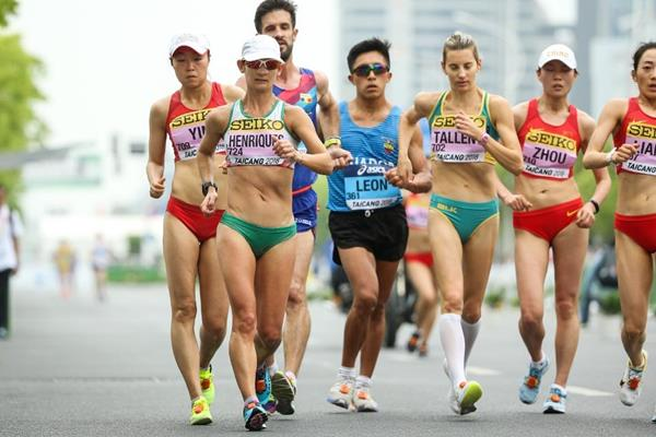 Ines Henriques in the women's 50km race walk at the IAAF World Race Walking Team Championships Taicang 2018 (Getty Images)