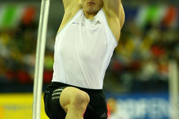 Alexander Straub at the Norwich Union Indoor Grand Prix Birmingham (Getty Images)