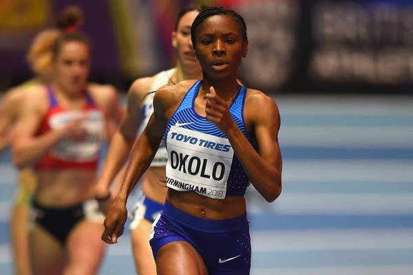Courtney Okolo in the 400m heats in Birmingham (Getty Images)