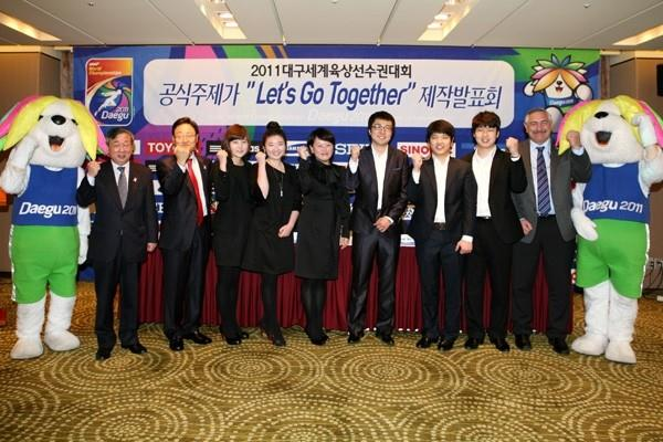 Press conference to launch - 'Let's Go Together!' - Official Song of Daegu 2011 (LOC)