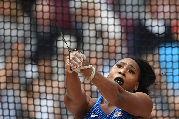 Gwen Berry in the hammer at the IAAF World Championships London 2017 (AFP / Getty Images)