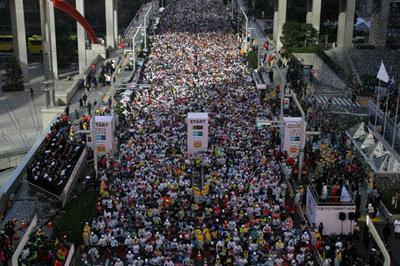 The start of the 2008 Tokyo Marathon (Yohei Kamiyama/Agence SHOT)