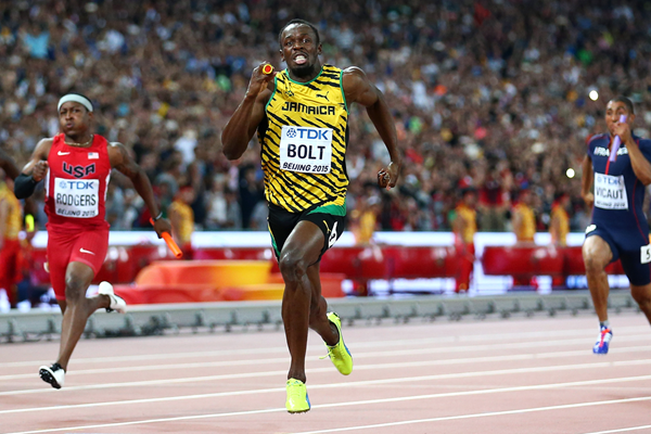 Usain Bolt anchors Jamaica to 4x100m gold at the IAAF World Championships Beijing 2015 (Getty Images)