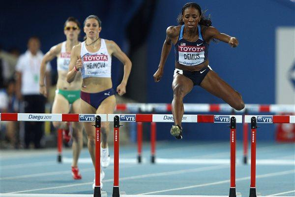 Lashinda Demus impressive in her 400m Hurdles semi-final (Getty Images)