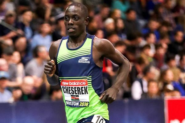 Edward Cheserek in the 3000m at the IAAF World Indoor Tour meeting in Boston (PhotoRun)