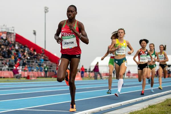 Edinah Jebitok, winner of the 1500m stage at the Youth Olympic Games in Buenos Aires (Joel Marklund for OIS/IOC)