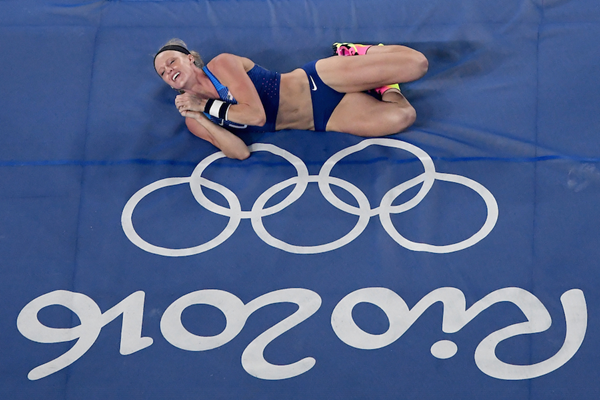 Sandi Morris in the pole vault at the Rio 2016 Olympic Games (Getty Images)