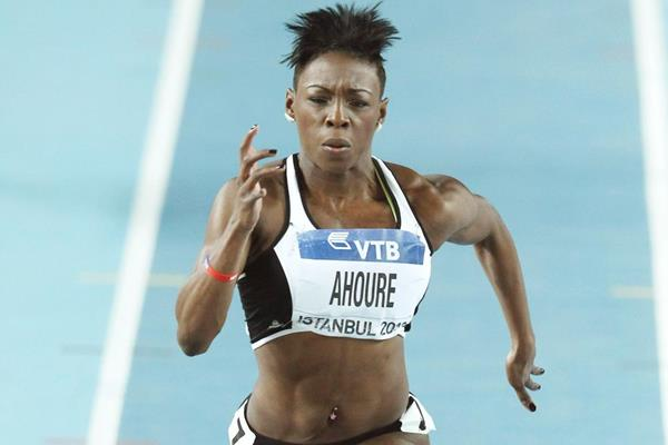 Murielle Ahoure in the 60m at the World Indoor Championships (Getty Images)