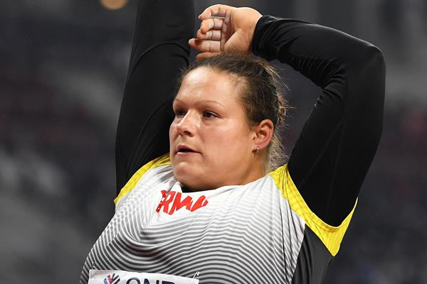 Christina Schwanitz at the IAAF World Athletics Championships Doha 2019 (Getty Images)