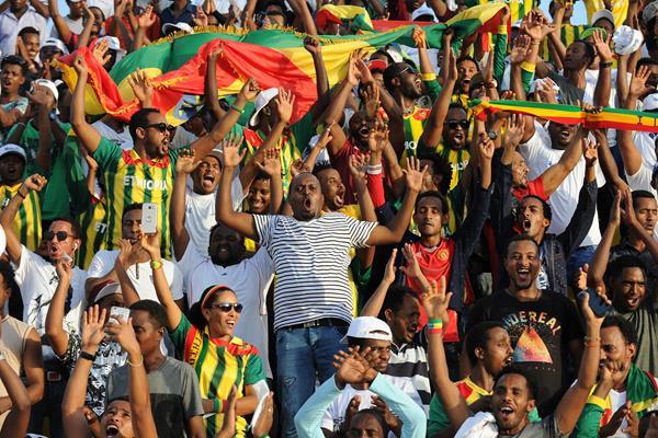 Ethiopian fans in Doha (Jiro Mochizuki)