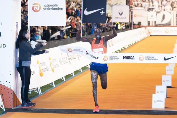 Jacob Kiplimo winning in Madrid (Organisers)