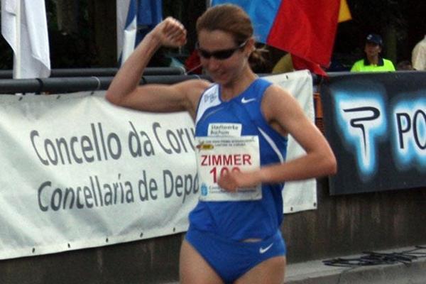Sabine Zimmer takes a convincing victory in La Coruña (Luis Francisco Fiaño)