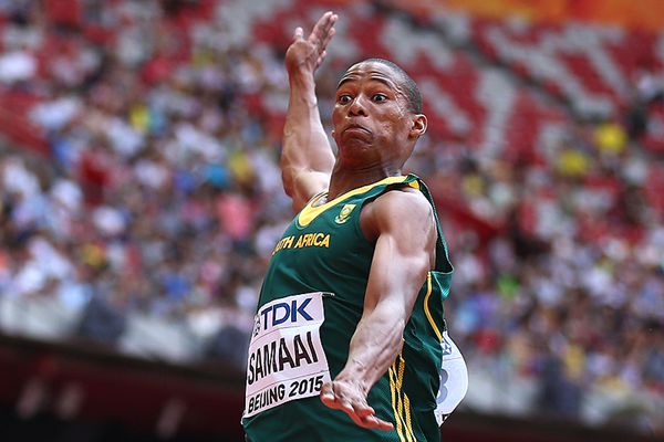Ruswahl Samaai in the long jump at the IAAF World Championships Beijing 2015 (Getty Images)