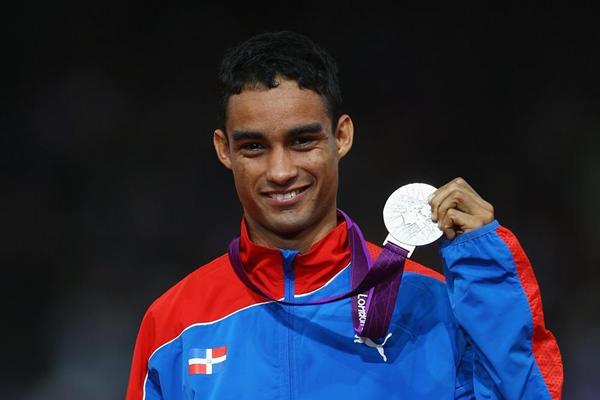 Luguelin Santos after winning the 400m silver medal at the London 2012 Olympic Games (Getty Images)