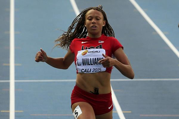 Lauren Rain Williams in the 200m at the IAAF World Youth Championships Cali 2015 (Getty Images)