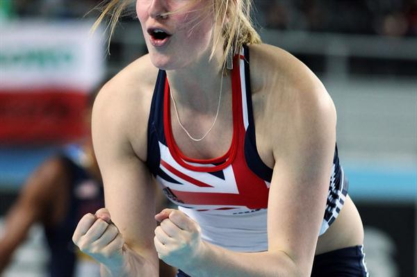 Holly Bleasdale of Great Britain got the bronze medal in the Women's Pole Vault Final during day three - WIC Istanbul (Getty Images)