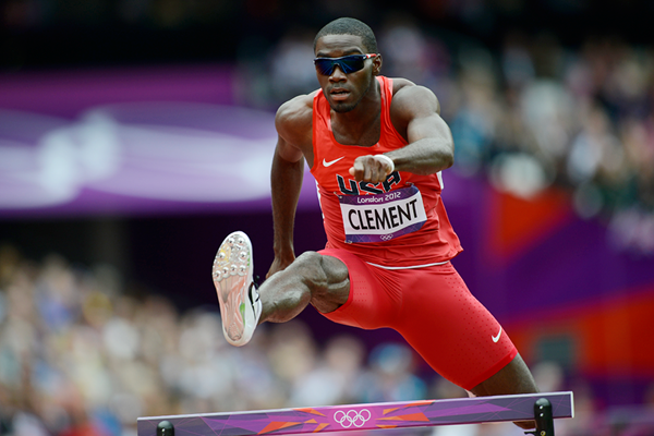 Kerron Clement in the 400m hurdles at the London 2012 Olympic Games (AFP / Getty Images)